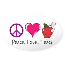 Custom Decal Peace, Love, Teach