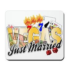 Vegas Just Married Mousepad