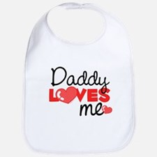 Daddy Love Me (red) Bib