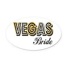 Vegas Bride Oval Car Magnet