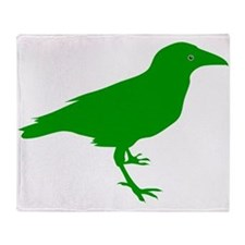 Green Raven Throw Blanket