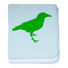 Green Raven baby blanket