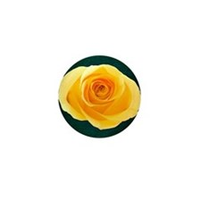 Yellow Rose Mini Button