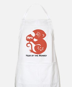 Year Of The Monkey Papercut Apron