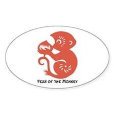 Chinese Zodiac Sticker Oval