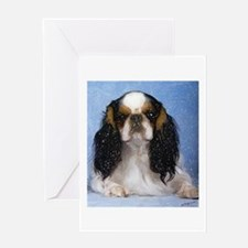 English Toy Spaniel Dog Portrait Greeting Card