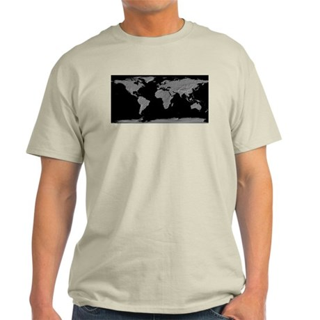 World Relief Map Ash Grey T-Shirt