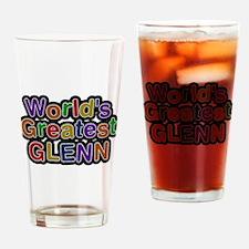 Worlds Greatest Glenn Drinking Glass