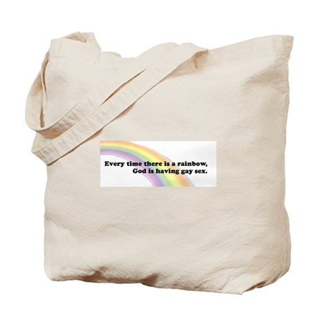 Every time there is a rainbow Tote Bag