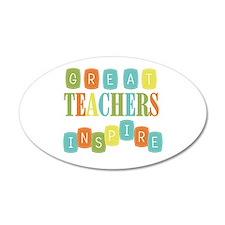 Great Teachers Inspire Wall Decal