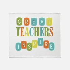 Great Teachers Inspire Throw Blanket