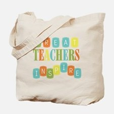 Great Teachers Inspire Tote Bag