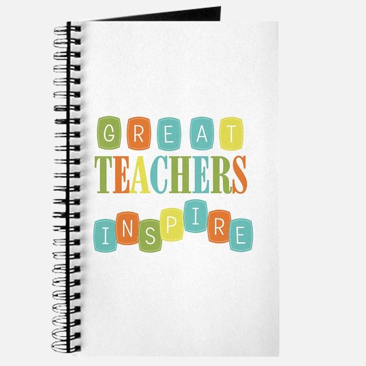 Great Teachers Inspire Journal