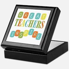 Great Teachers Inspire Keepsake Box