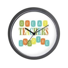 Great Teachers Inspire Wall Clock