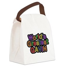 Worlds Greatest Gavin Canvas Lunch Bag