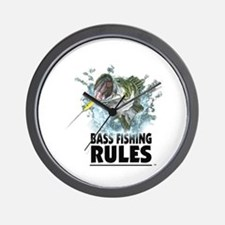 BASS FISHING RULES...STRIKE! Wall Clock