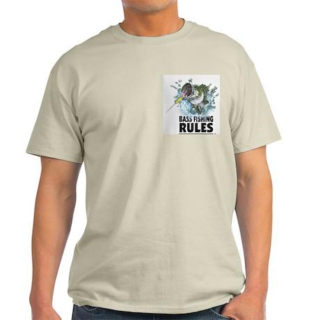 BASS FISHING RULES...STRIKE! Ash Grey T-Shirt