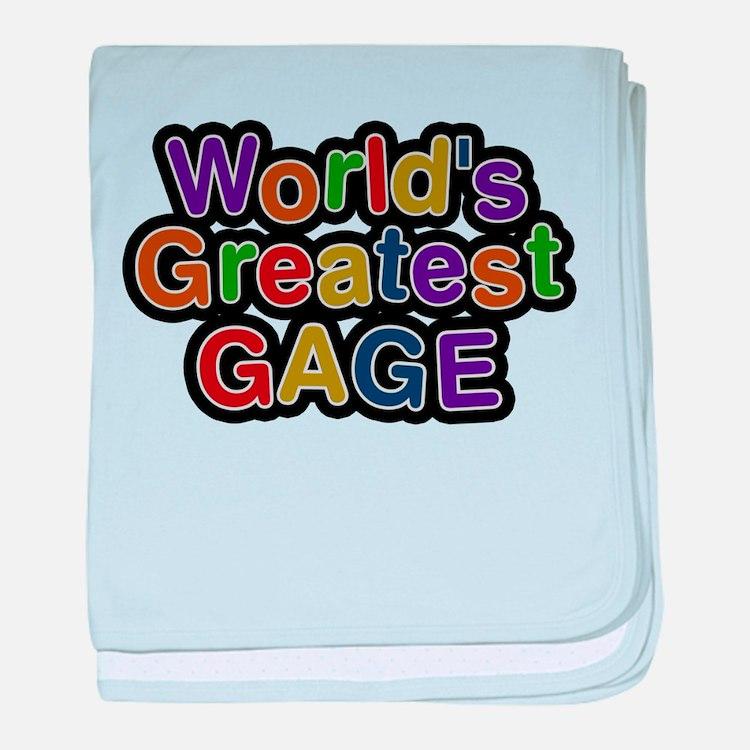Worlds Greatest Gage baby blanket