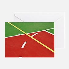 Basketball court Greeting Card