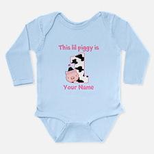 1st Birthday Piggy Body Suit