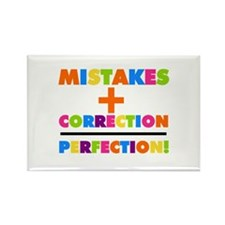 Mistakes Plus Correction Rectangle Magnet (10 pack