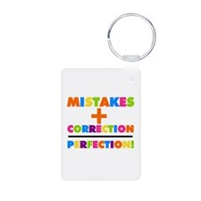 Mistakes Plus Correction Aluminum Photo Keychain
