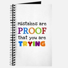 Mistakes Proof You Are Trying Journal