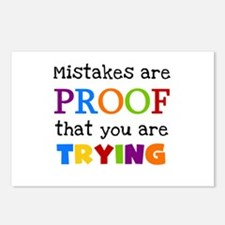 Mistakes Proof You Are Trying Postcards (Package o