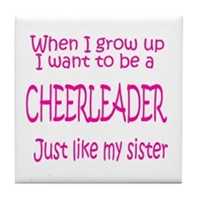 CheerBaby...just like Sister Tile Coaster