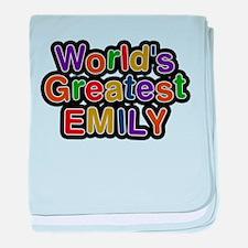Worlds Greatest Emily baby blanket