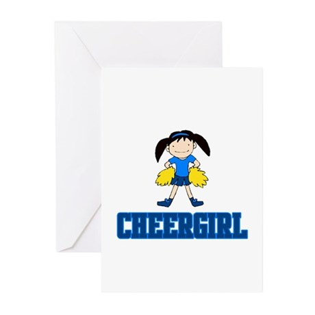 """CheerChick """"CheerGirl"""" Greeting Cards (Package of"""