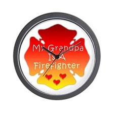 My Grandpa Is A Firefighter Wall Clock