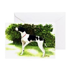 English Pointer Dog Portrait Greeting Card