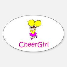 "CheerChick ""CheerGirl II"" Oval Decal"