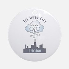 The Windy City Chicago Ornament (Round)