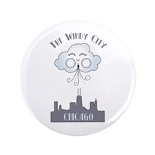 """The Windy City Chicago 3.5"""" Button"""