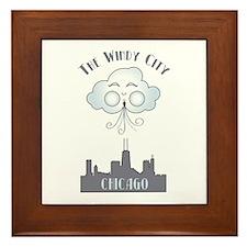 The Windy City Chicago Framed Tile