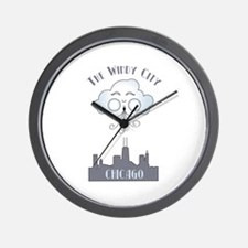 The Windy City Chicago Wall Clock