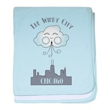 The Windy City Chicago baby blanket