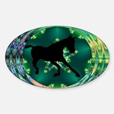 Horse Oval Decal