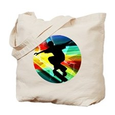 Skateboarding on Criss Cross Lightning Tote Bag