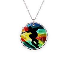 Skateboarding on Criss Cross Necklace