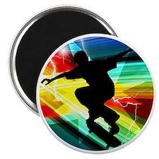 Skateboarding on Criss Cross Lightning Magnet
