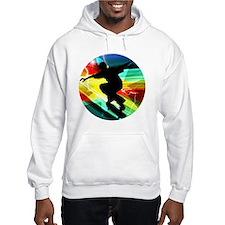 Skateboarding on Criss Cross Lig Jumper Hoody