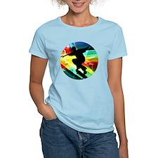 Skateboarding on Criss Cross T-Shirt
