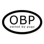 Owned By Pugs (OBP) Oval Sticker