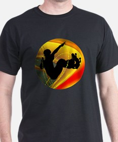 Skateboarding Silhouette in the Bowl T-Shirt