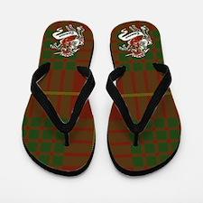 Cameron Tartan Cross Flip Flops