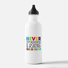 Never Stop Wondering Water Bottle